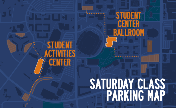 Saturday Class Parking Map