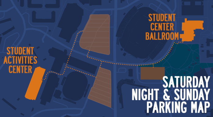 Saturday Night and Sunday Parking Map